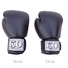 12 oz and 16 oz Sparring Gloves - Front view size comparison