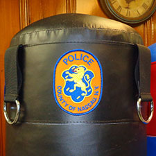 Nassau County Police Department Custom Logo Patch on Heavy Bag