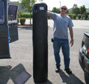 Neil Posing with Peter's new KO Fightgear Heavy Bag